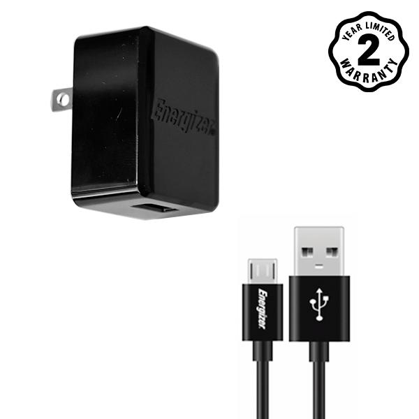 Sạc Energizer Wall ACA1AUSCMC3 1A 1USB (kèm cable Micro USB) hình 0