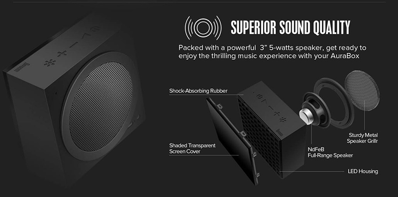Loa Bluetooth Divoom AuraBox (Led Light) hình 4