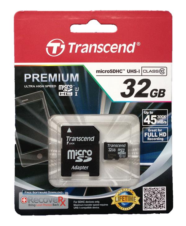 Thẻ nhớ Transcend MicroSDHC 32GB Class 10 UHS-1 Premium hình 1