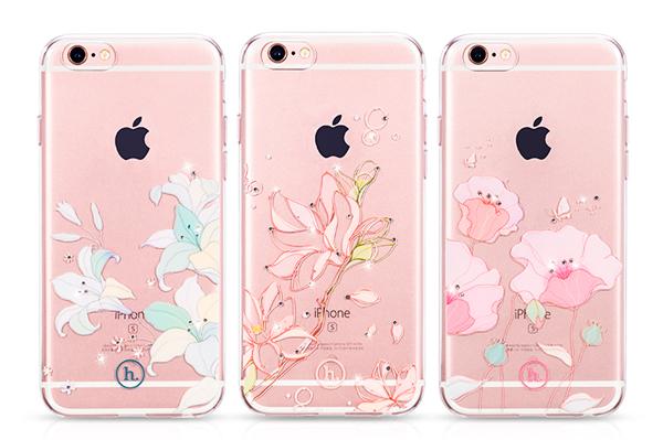 Ốp lưng Hoco TPU Flower iPhone 6/6S (TPU hoa) hình 7