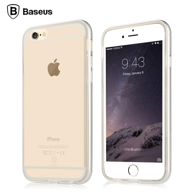 Ốp lưng Baseus Golden iPhone 6/6S (viền kim loại) hình 3