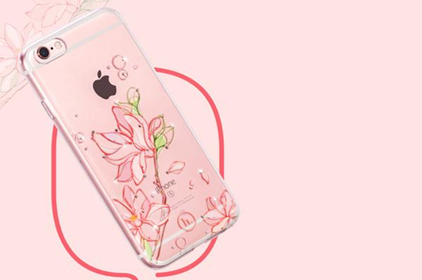 Ốp lưng Hoco TPU Flower iPhone 6/6S (TPU hoa) hình 5