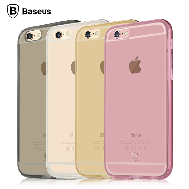 Ốp lưng Baseus Golden iPhone 6/6S (viền kim loại) hình 4