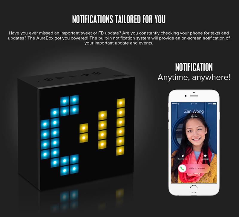 Loa Bluetooth Divoom AuraBox (Led Light) hình 6