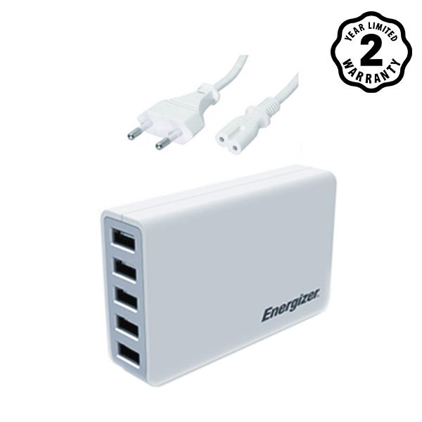Sạc Energizer 5 cổng USB Station 25W EU hình 0