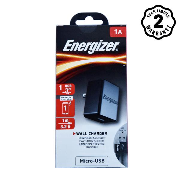 Sạc Energizer Wall ACA1AUSCMC3 1A 1USB (kèm cable Micro USB) hình 2