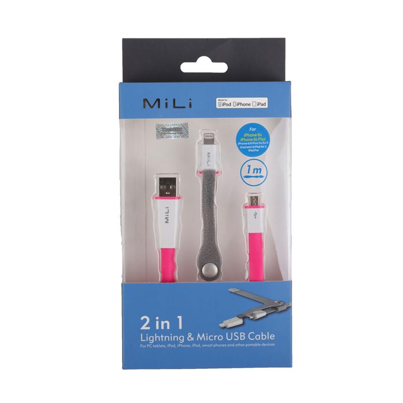 Mili cable Micro Usb + Lightning (Hi-L12) hình 1