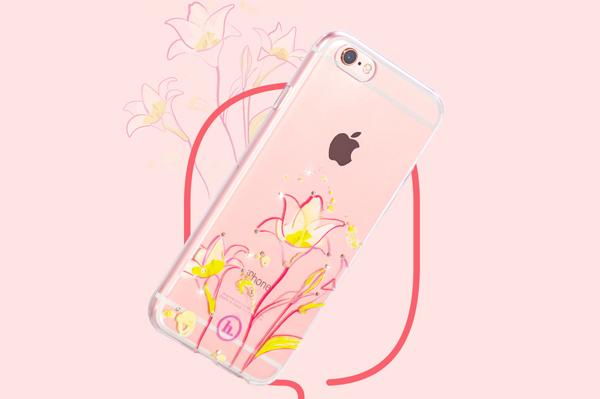 Ốp lưng Hoco TPU Flower iPhone 6/6S (TPU hoa) hình 6