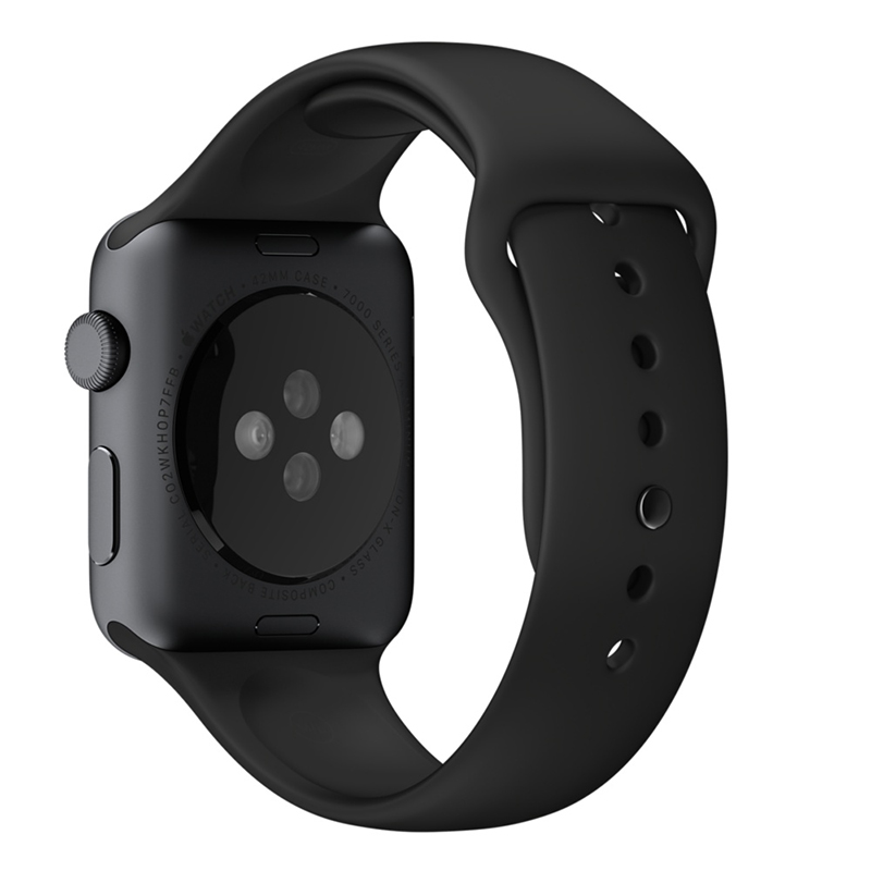 Apple Watch Sport With Black Sport Band (42mm) MJ3T2 hình 2