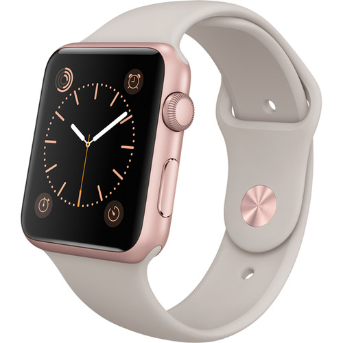 Apple Watch Sport with Stone Sport Band (42mm) Rose Gold MLC62 hình 2