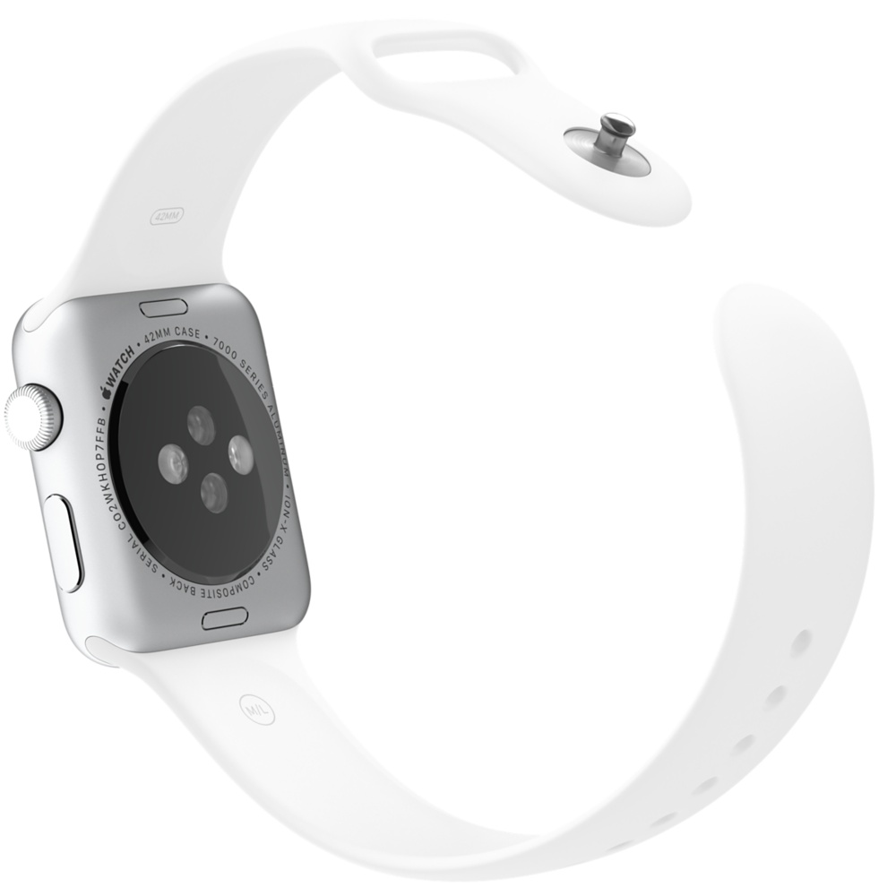 Apple Watch Sport With White Sport Band (42mm) MJ3N2 hình 4