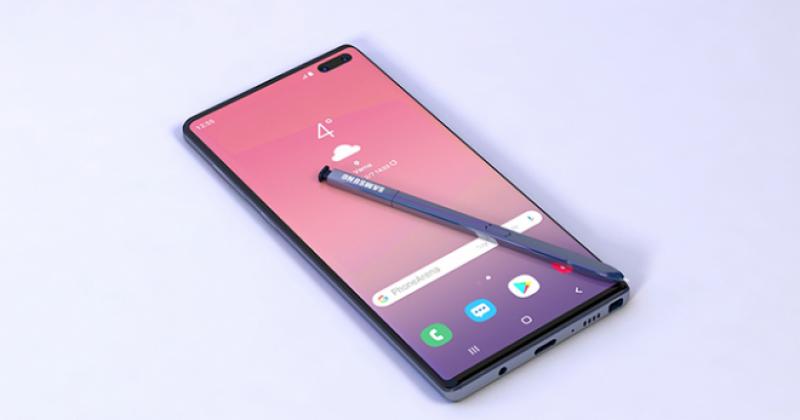 Camera Samsung Galaxy Note 10 selfie ẩn dưới màn hình với khẩu độ biến tam cấp gây ấn tượng mạnh.