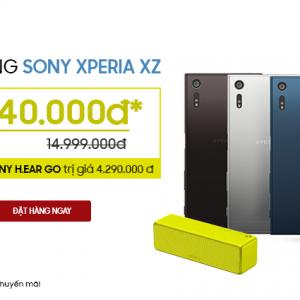 Chỉ có tại Hnam: Siêu phẩm Xperia XZ giá chỉ 13.6 triệu, tặng thêm loa 4 triệu