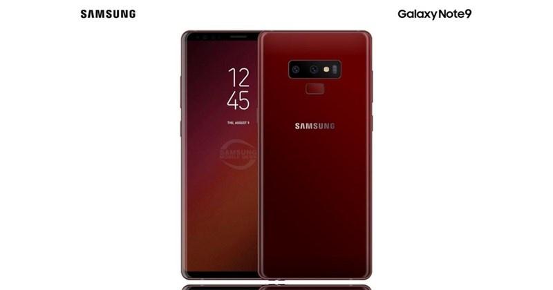 Chiêm ngưỡng vẻ đẹp của bản concept Galaxy Note 9 màu đỏ
