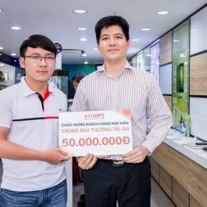Chúc mừng khách hàng mua iPhone 7 Plus công ty trúng thưởng 50.000.000Đ tiền mặt
