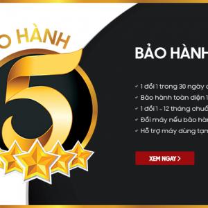 Hnam Mobile nâng cấp Dịch vụ bảo hành 5 sao