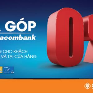 Hướng dẫn mua trả góp 0% thông qua thẻ tín dụng quốc tế Sacombank & Shinhan Bank