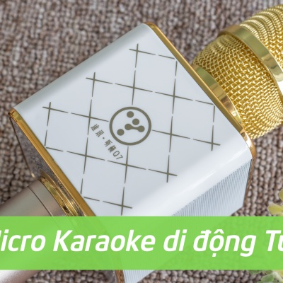 Làm ca sĩ chỉ với 890k cùng Micro Karaoke di động Tuxun Q7.