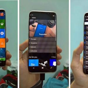 Lộ ảnh Samsung Galaxy S8 chạy Windows 10 Mobile