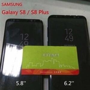 Lộ ảnh thực tếchụp điện thoại Samsung Galaxy S8 và S8 Plus đặt cạnh nhau