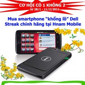 Mua Dell Streak chính hãng tại Hnam Mobile, tặng ngay thùng bia Heineken.
