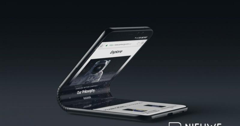 Ngắm nhìn chiếc smartphone Galaxy X có màn hình gập của Samsung