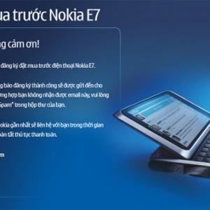 Nokia E7 bắt đầu cho đặt hàng ở VN