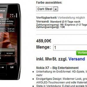 Nokia X7 và E6 cho đặt hàng với giá cao hơn thông báo