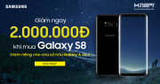 Shock: Giảm thêm 2 triệu khi mua điện thoại Samsung Galaxy S8