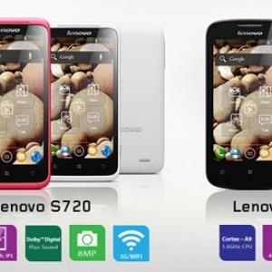 Smartphone Lenovo S720 và A690 chính thức 'lên kệ'