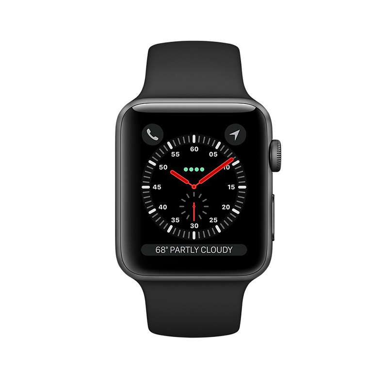 Apple Watch Series 3 Cellular 42mm Gray Aluminum Case- MQK22 ( Trôi bảo hành , chưa Active) hình 1