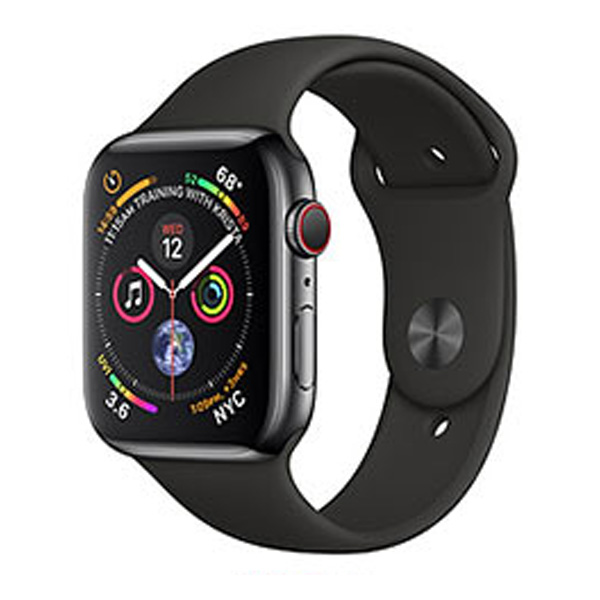 Apple Watch Series 4 40mm GPS Aluminum Case with Black Sport Band MU662 hình 0