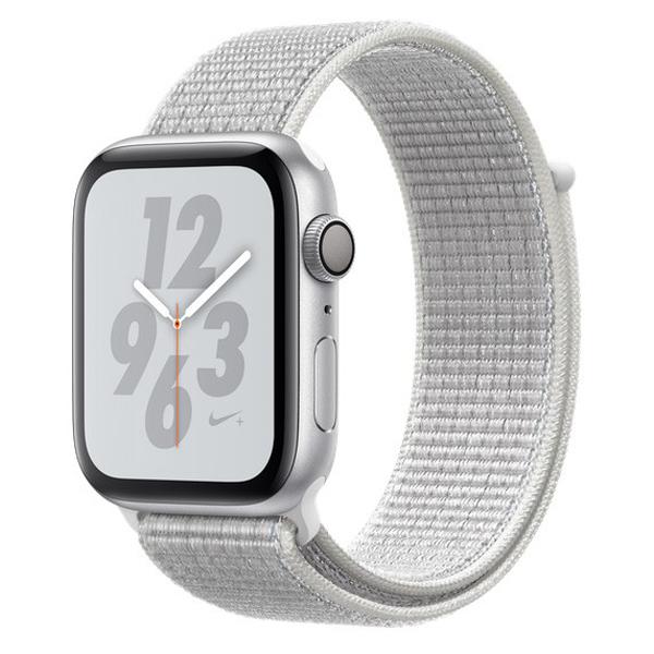 Apple Watch Series 4 44mm GPS Silver Aluminun case with Pure Summit White Nike Sport Loop MU7H2 hình 0