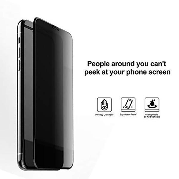 Cường lực chống nhìn trộm Mocoll iPhone XS Max (Full màn hình) hình 2