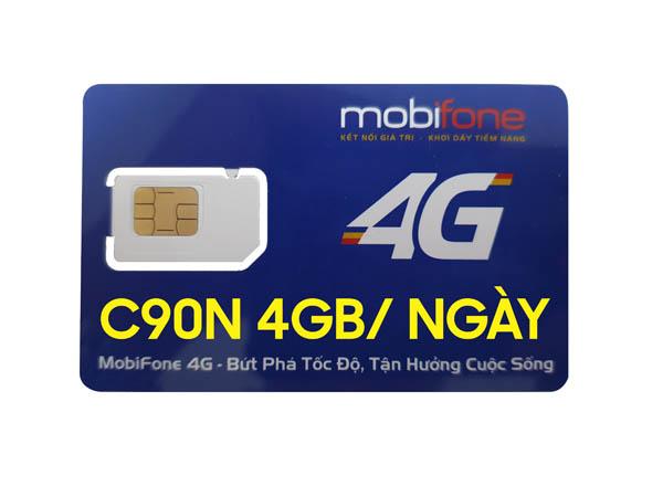 MOBIFONE C90N 4GB/ ngày hình 0