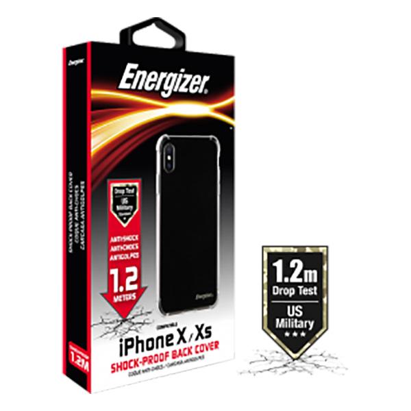 Ốp lưng Energizer chống sốc 1.2m iPhone X/XS - CO12IP58 (trong suốt) hình 1