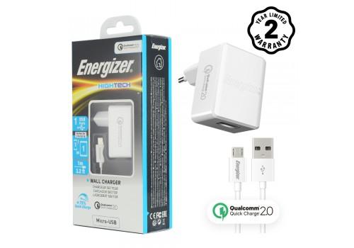 Sạc Energizer QC2.0 (kèm cáp Micro) ACW1QEUHMC3 hình 2