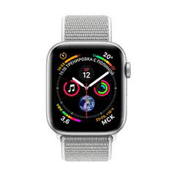 Apple Watch Series 4 44mm GPS Stainless Steel Case with Milanese Loop MU6C2 hình 1