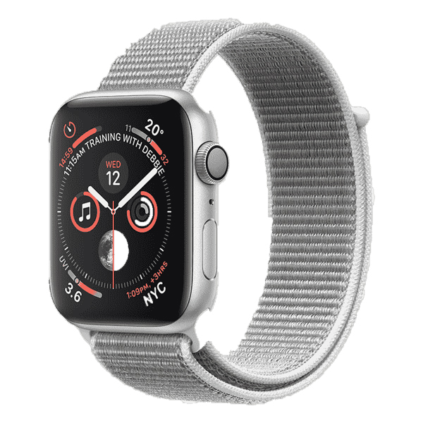 Apple Watch Series 4 44mm GPS Stainless Steel Case with Milanese Loop MU6C2 hình 0