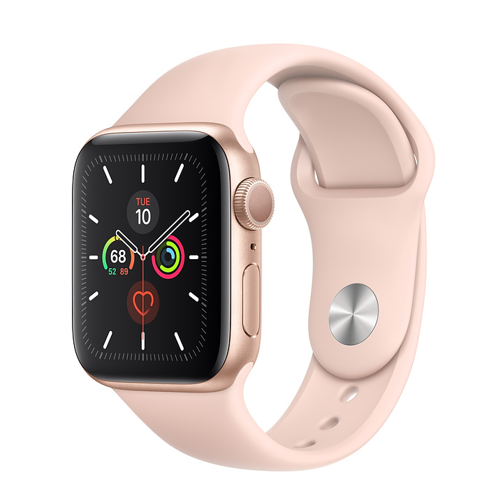 Apple Watch Series 5 40mm GPS Gold Aluminum Case with Sport Band Pink Sand MWV72 hình 0