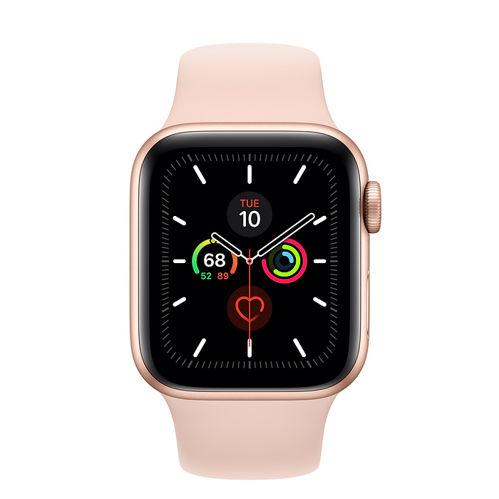 Apple Watch Series 5 40mm GPS Gold Aluminum Case with Sport Band Pink Sand MWV72 hình 1