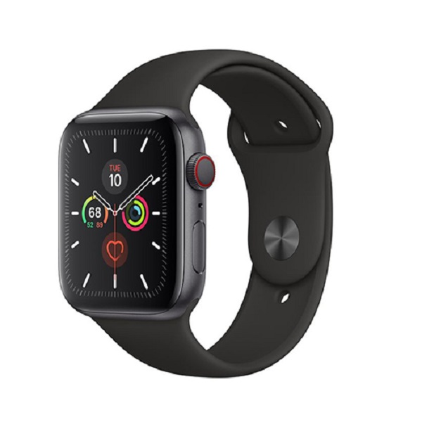 Apple Watch Series 5 44mm LTE Space Gray Aluminum Case with Sport Band Black MWW12 hình 0