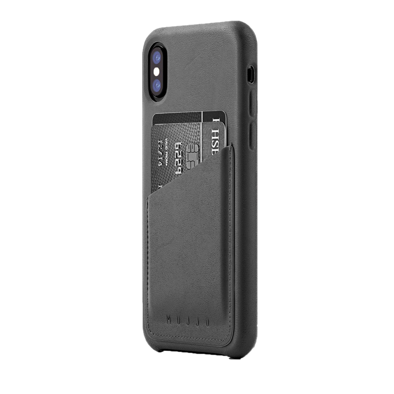 Ốp lưng Mujjo Leather iPhone X (CS-092) hình 2