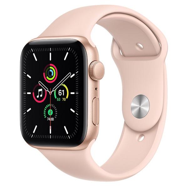 Apple Watch SE 40mm GPS Gold Aluminium Case with Pink Sand Sport Band MYDN2 hình 0