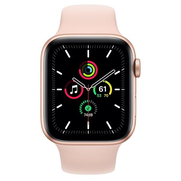 Apple Watch SE 40mm GPS Gold Aluminium Case with Pink Sand Sport Band MYDN2 hình 1