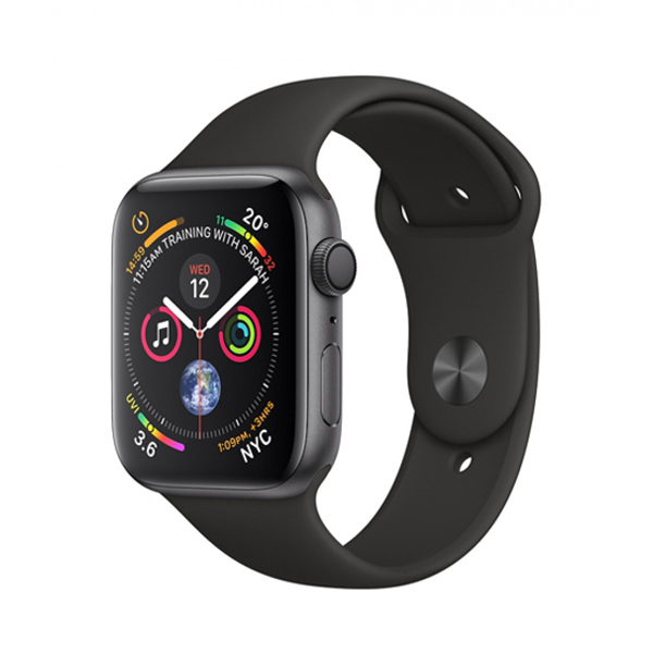 Apple Watch Series 4 44mm GPS Aluminum Case with Black Sport Band MU6D2 hình 0