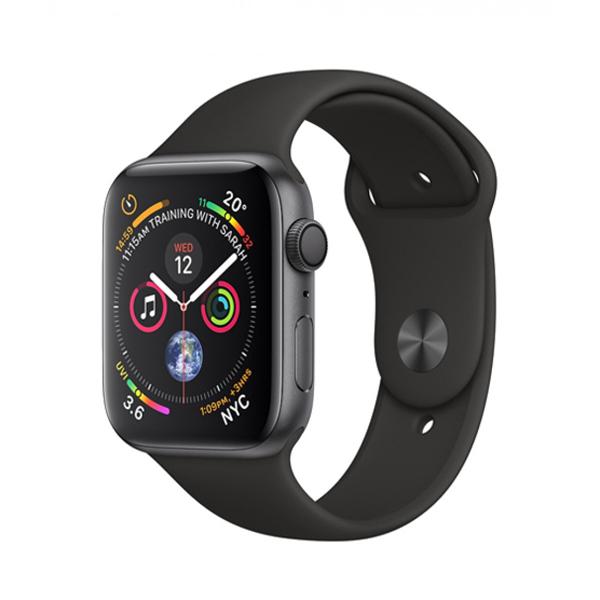 Apple Watch Series 4 44mm GPS Aluminum Case with Black Sport Band MU6D2 hình 0