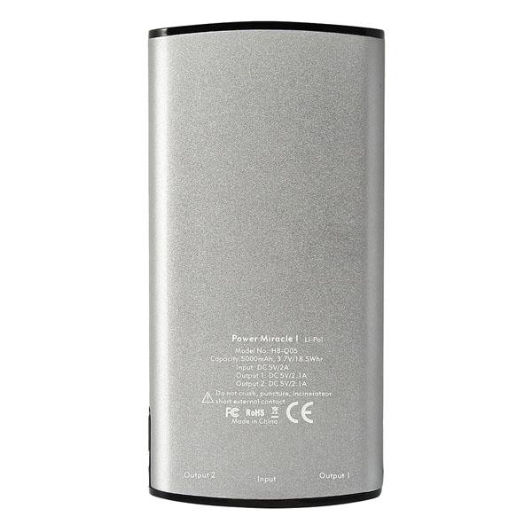 Pin dự phòng Mili Miracle I 5000mAh (HB-Q05) hình 2
