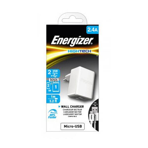 Sạc Energizer Wall 2.4A (kèm cable Micro USB) hình 1