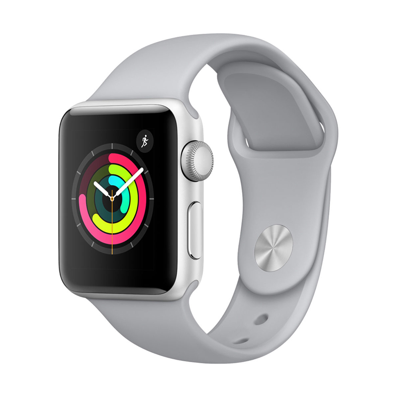 Apple Watch Series 3 38mm Silver Aluminum Case-MQKU2 hình 2